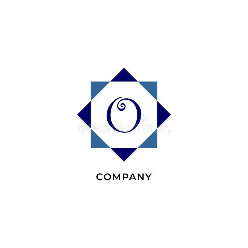 Letter O Alphabetic Logo Design Template, Development company Logo Concept иллюстрация вектора