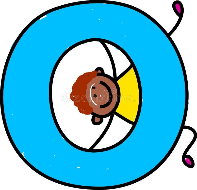 Letter O boy vector illustration