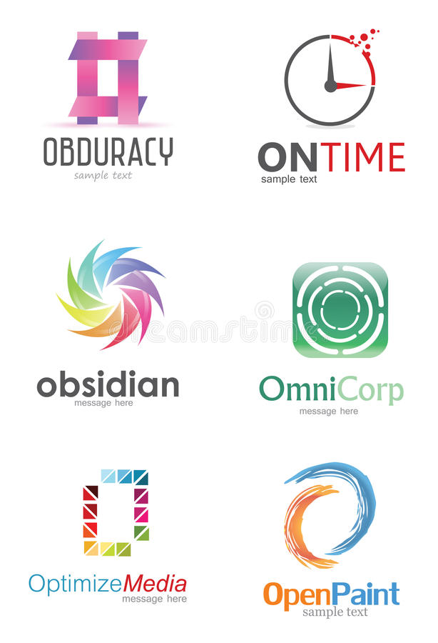 Letter O Logo. Alphabetical Logo Design Concepts. Letter O stock illustration