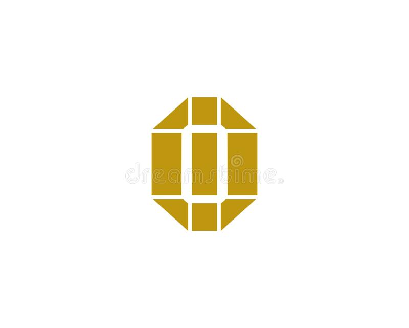 Letter O logo icon design template elements. Abstract design for jewelery business. stock illustration