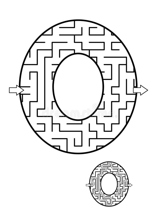 Free Letter O Maze Game For Kids Stock Image - 107355961