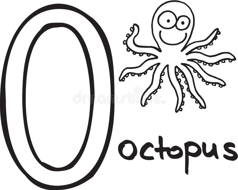 Download Letter O - octopus stock vector. Image of white, text - 10050183