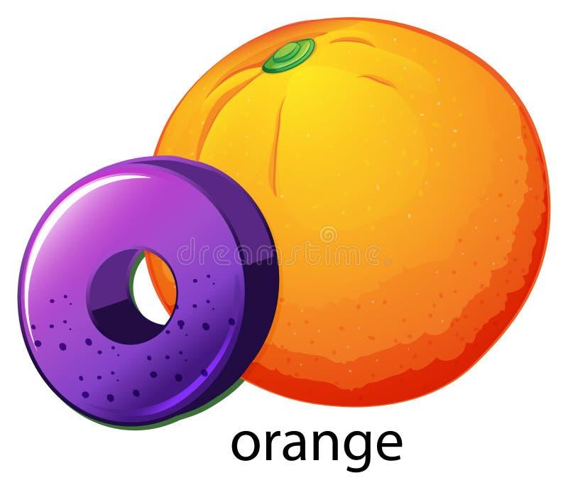 A letter O for orange ...