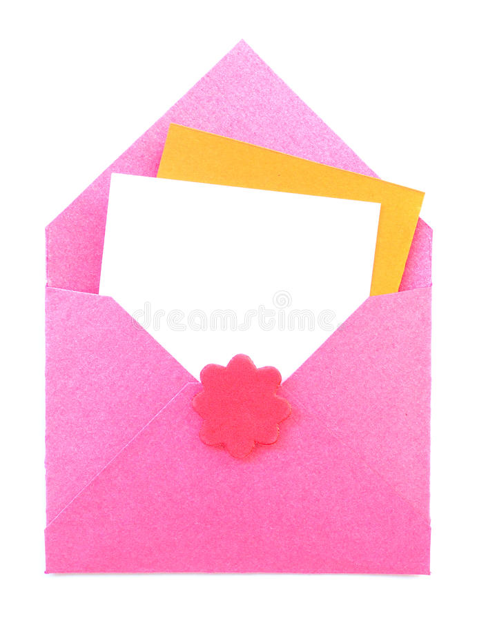 Download Letter open on white stock photo. Image of empty, card - 20969098