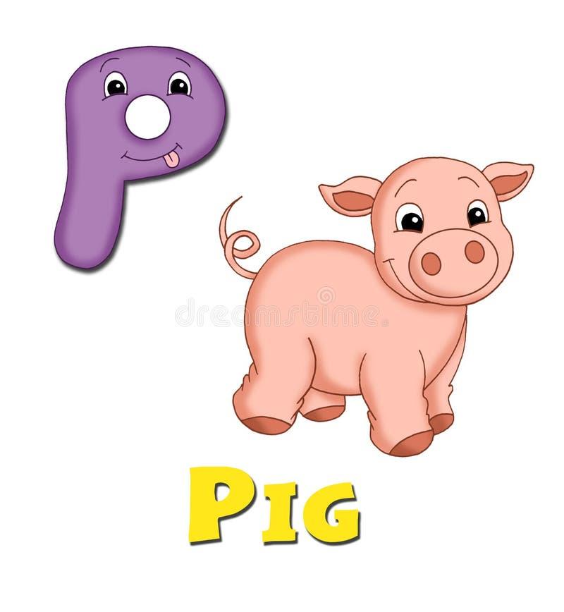 Letter P stock illustration