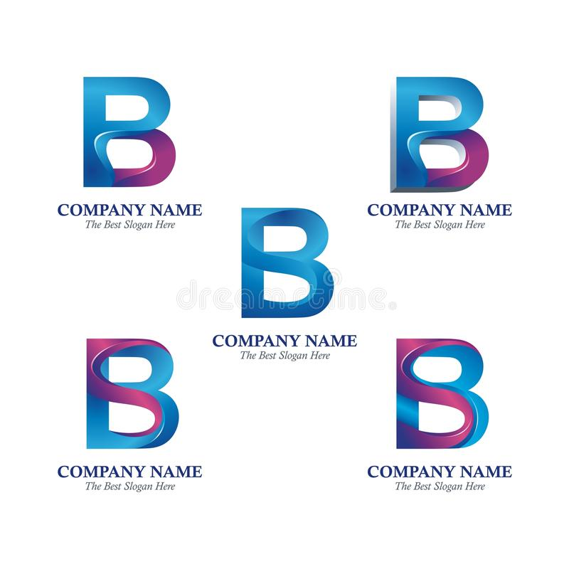 Letter P and B Logotype Design vector illustration
