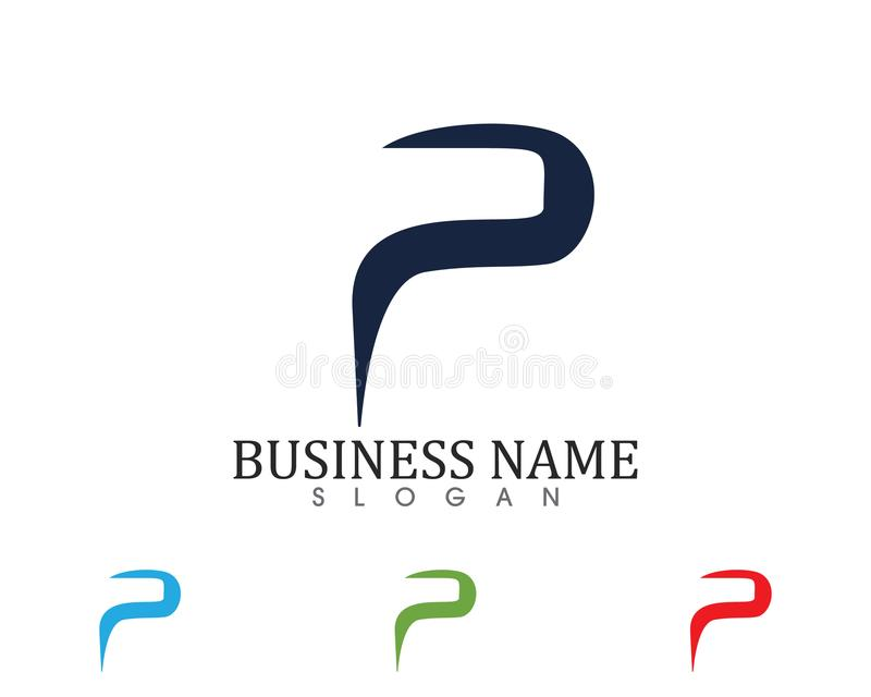 Business corporate letter P logo design vector royalty free illustration