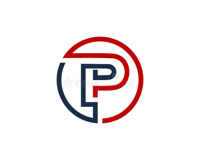 Letter P Circle Line Icon Logo Design Element Stock Vector