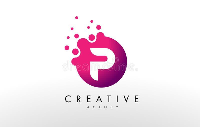 Letter P Logo. P Letter Design Vector. Dots Letter P Logo. P Letter Design Vector with Dots stock illustration