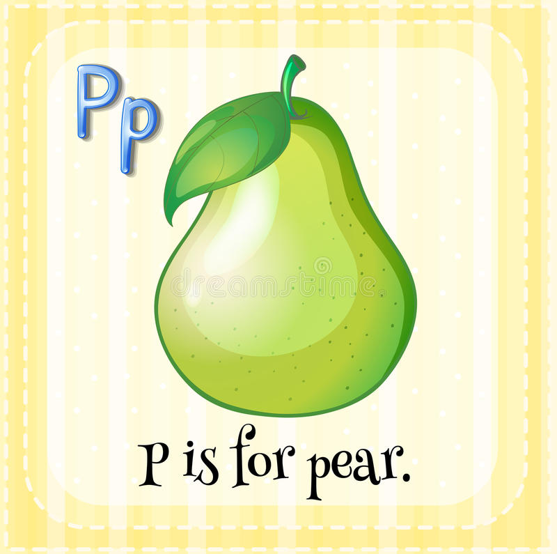 A letter P for pear vector illustration