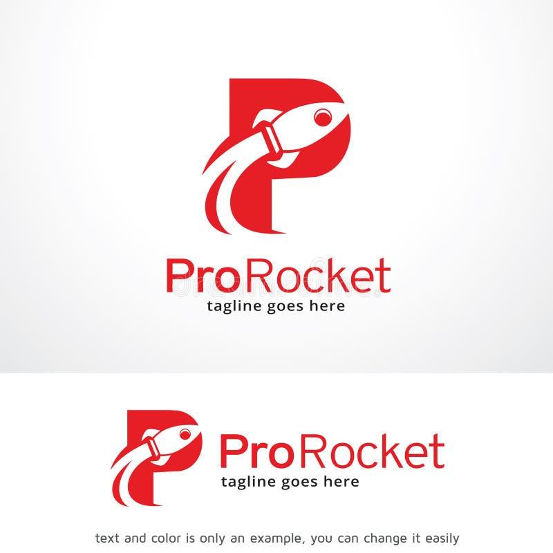 Letter P Rocket Logo Template Design Vector Emblem Design Concept
