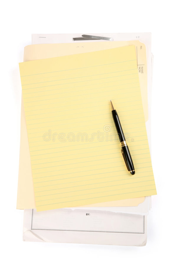 Letter paper royalty free stock photography