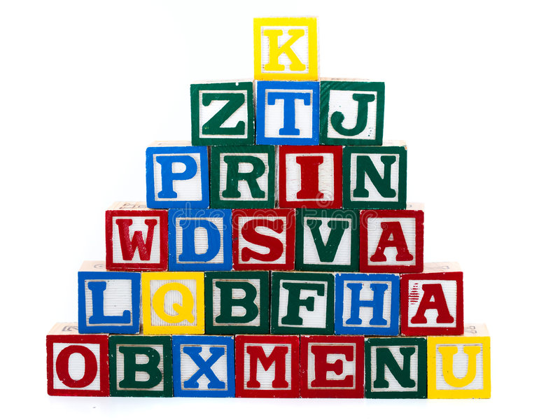 Letter pyramid. Of the cubes royalty free stock photos