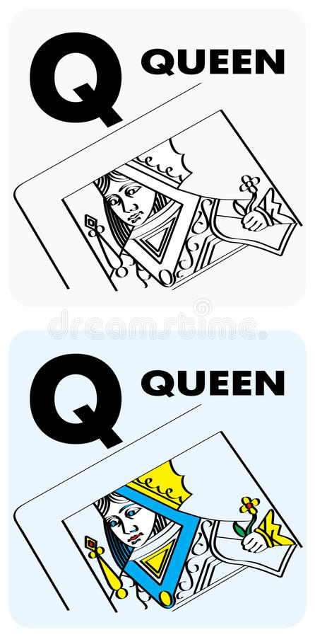 Letter Q Flashcards Royalty Free Stock Image
