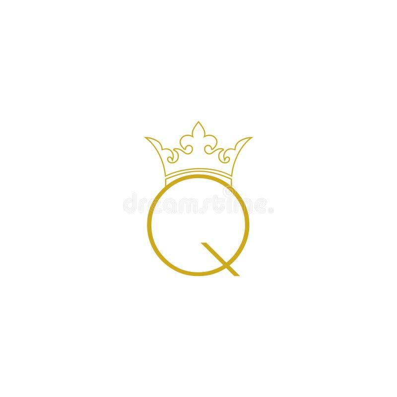 Letter Q logo, Queen Logo icon sign vector illustration
