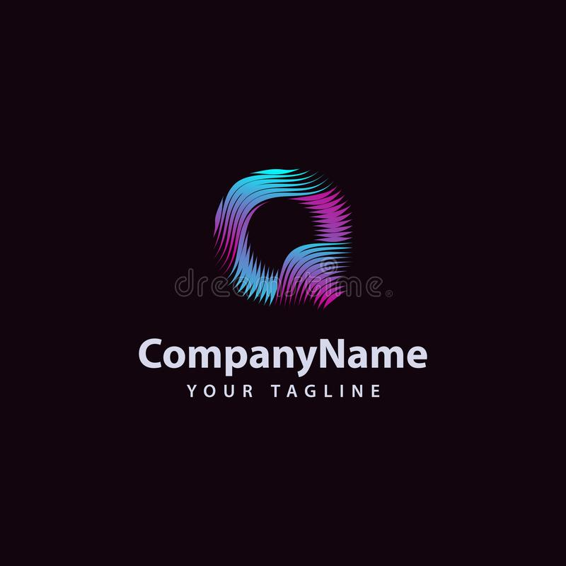 Letter Q modern Wave line Logo design template vector illustration