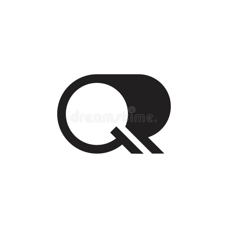 Letter q simple geometric curves logo royalty free illustration