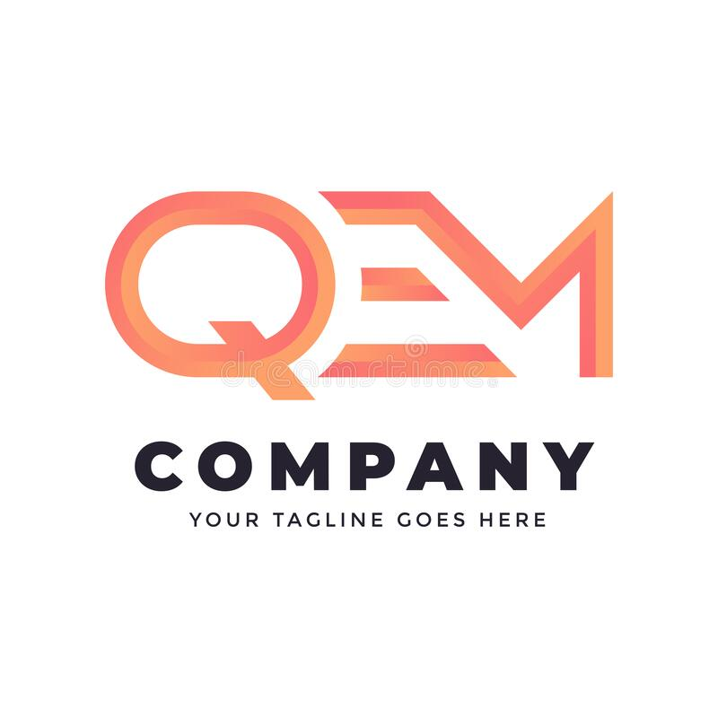 Free Letter QEM Logo Template | Monogram Stock Photos - 213274883