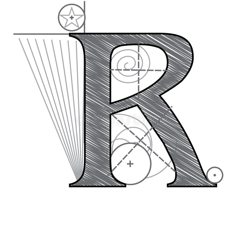 Download Letter R stock vector. Illustration of cross, circle, paper - 7690562