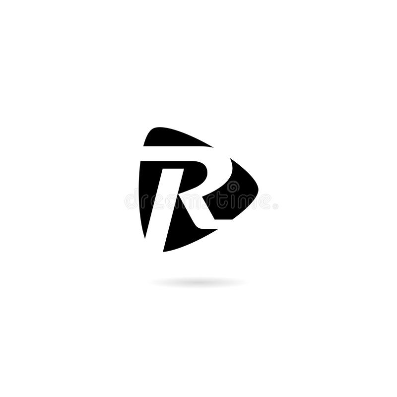 Letter R Business corporate abstract isolated on white background. Simple vector logo stock illustration