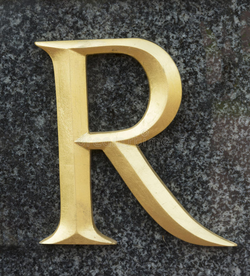 Letter R royalty free stock photos