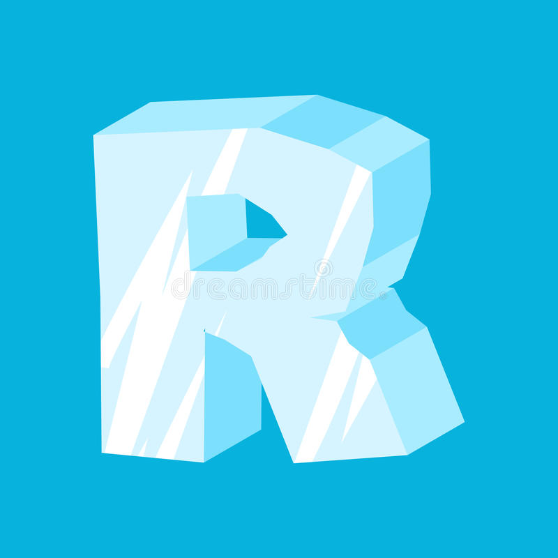 Download Letter R Ice Font Icicles Alphabet Freeze Lettering Iceberg A Stock Vector