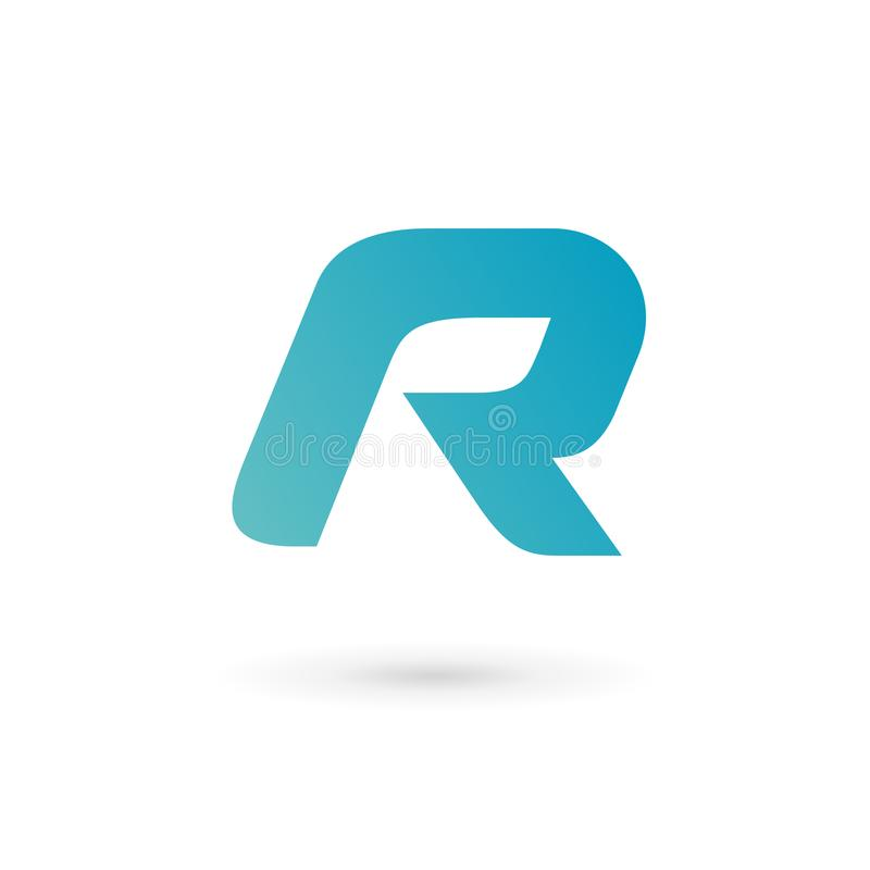 Letter R logo icon design template elements royalty free illustration