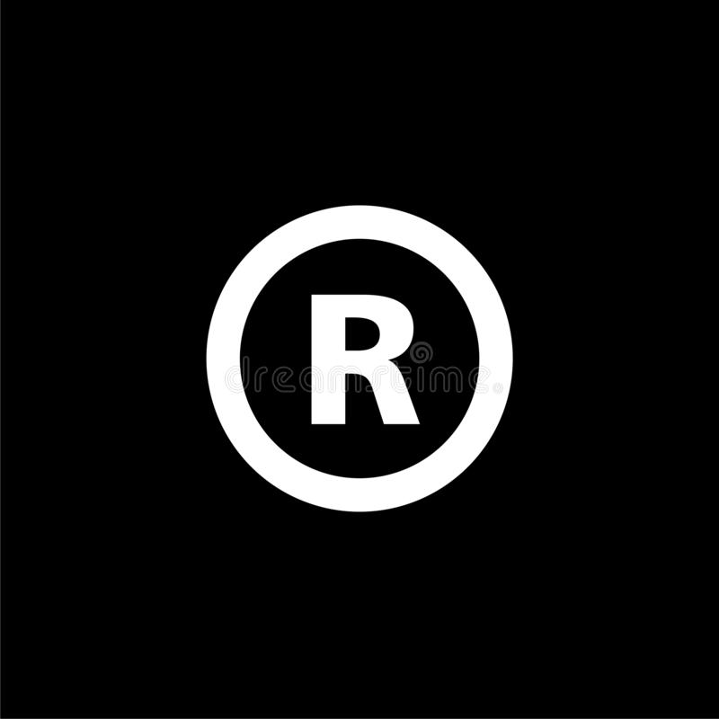 Letter R Logo Isolated On Black Background Stock Vector Illustration Of Label Illustration 164101784