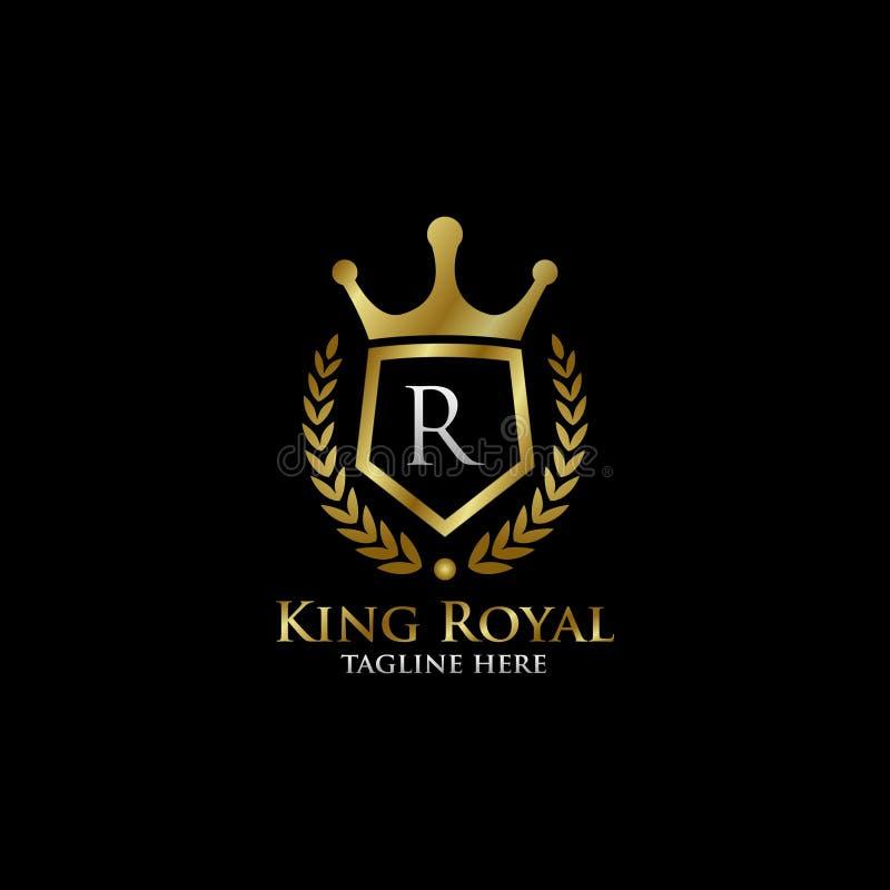 Luxury Letter H Logo: Initial R Luxury Shield Royal Logo Stock Illustration