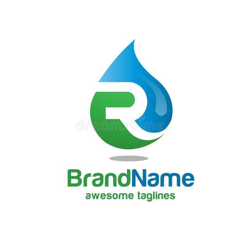 letter r oil logo stock vector illustration of bird