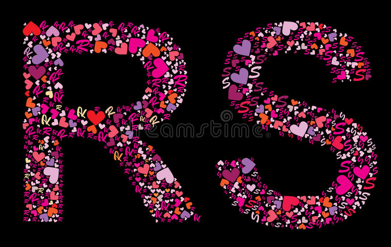 Download Letter R S Valentine Alphabet Stock Vector