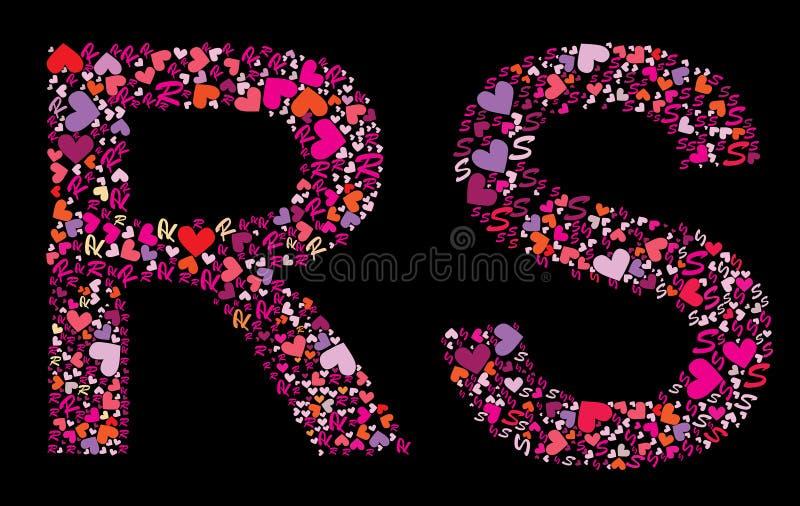 Letter R, S. Valentine Alphabet Stock Vector ...