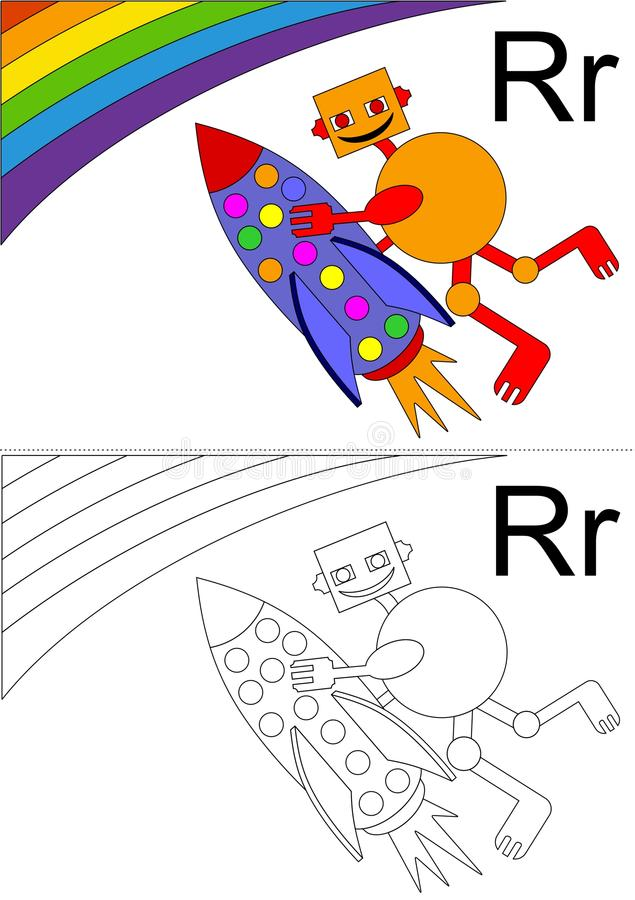Letter r worksheet stock photo