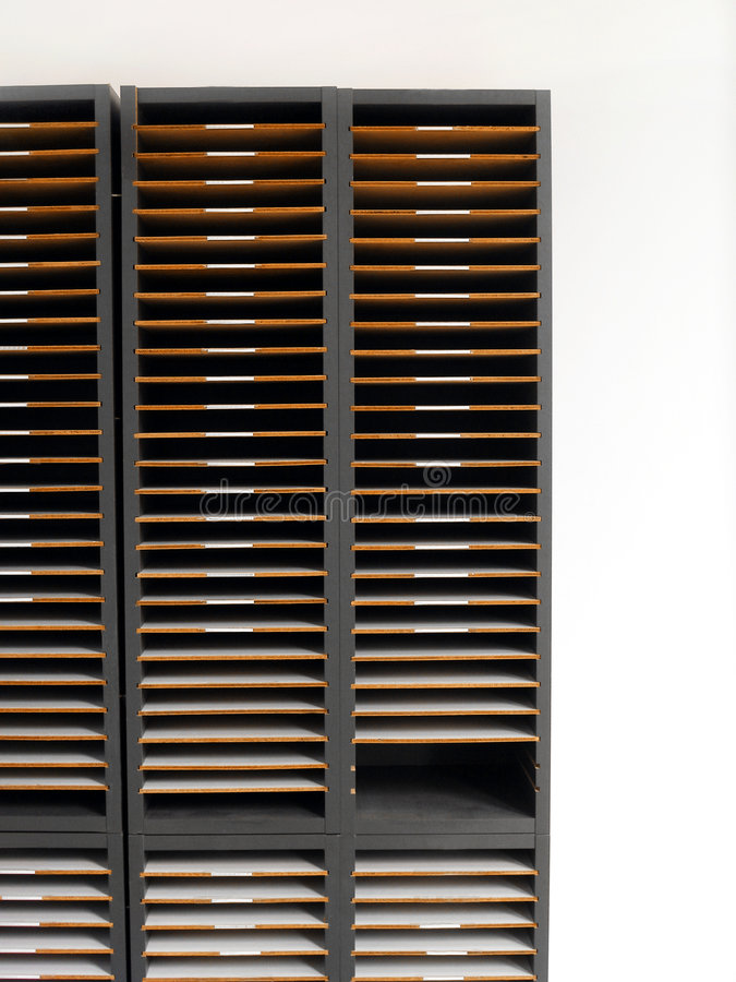 Letter rack or cabinet. Get organised! - An image of an office organizer rack for distribution of letters or memo to different personnel. Also used as royalty free stock photos