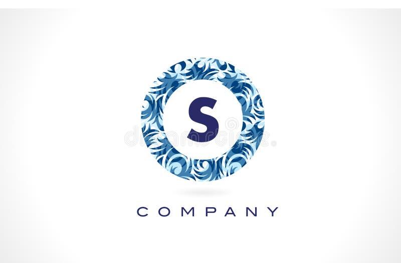 Letter S Blue Pattern Logo Design. royalty free illustration