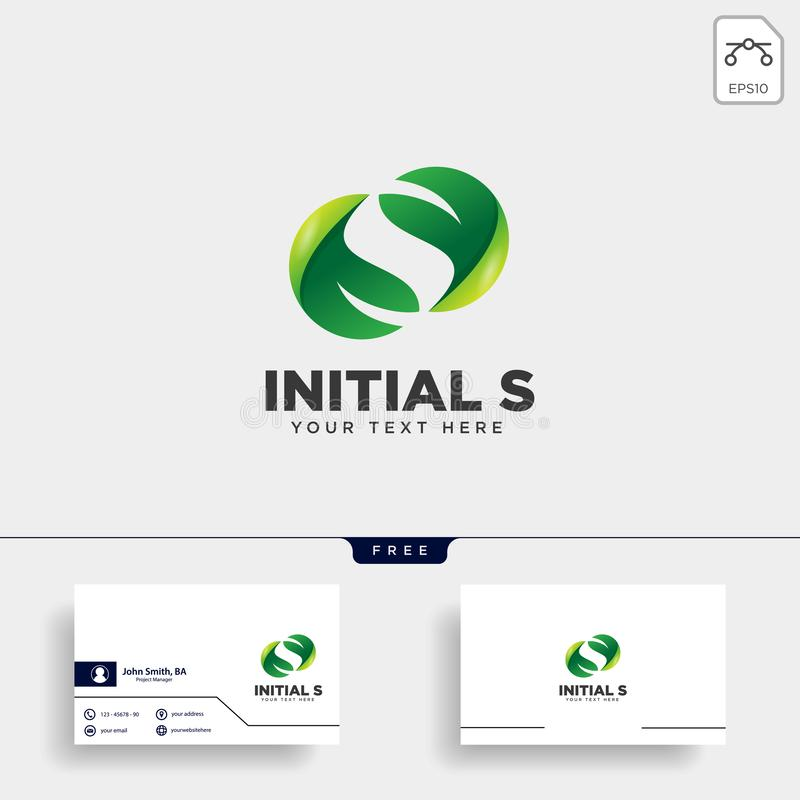 Letter S leaf, initial logo template vector illustration icon element. Isolated - vector royalty free illustration