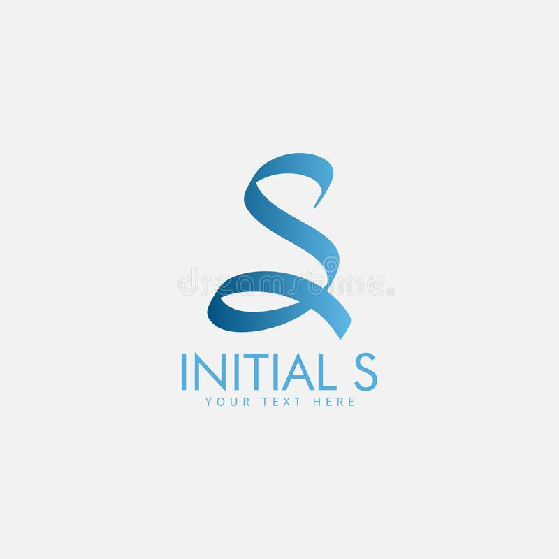 Letter s logo design template vector isolated royalty free illustration