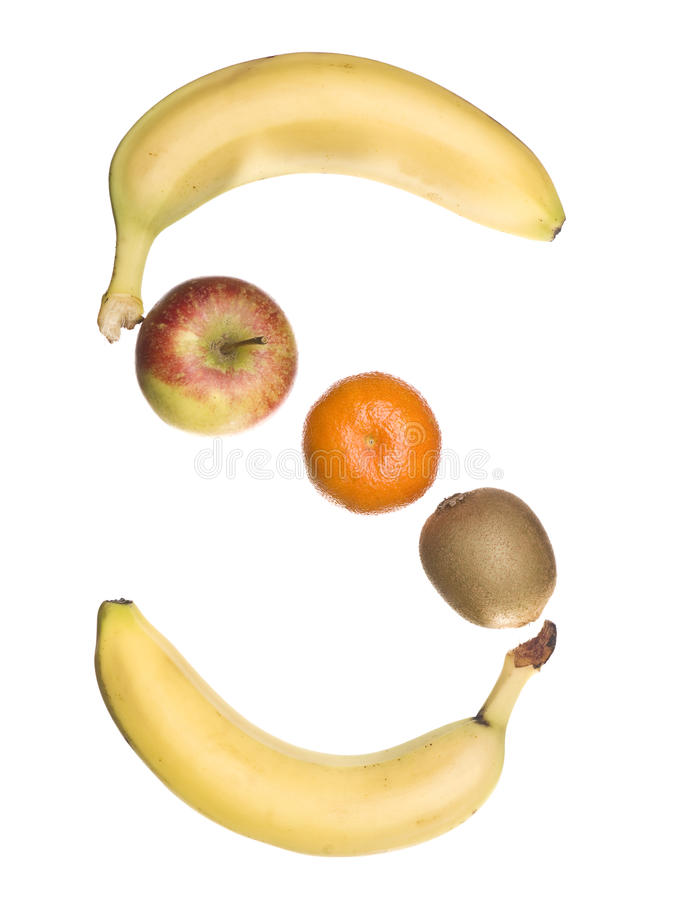 The letter 'S' made out of fruit royalty free stock photography