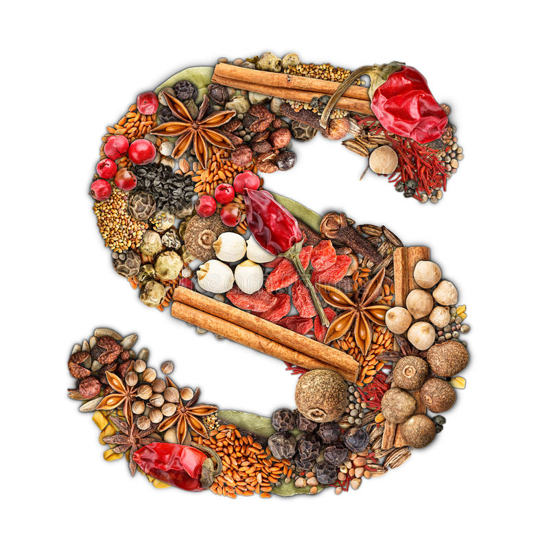 Spices letter royalty free stock photo