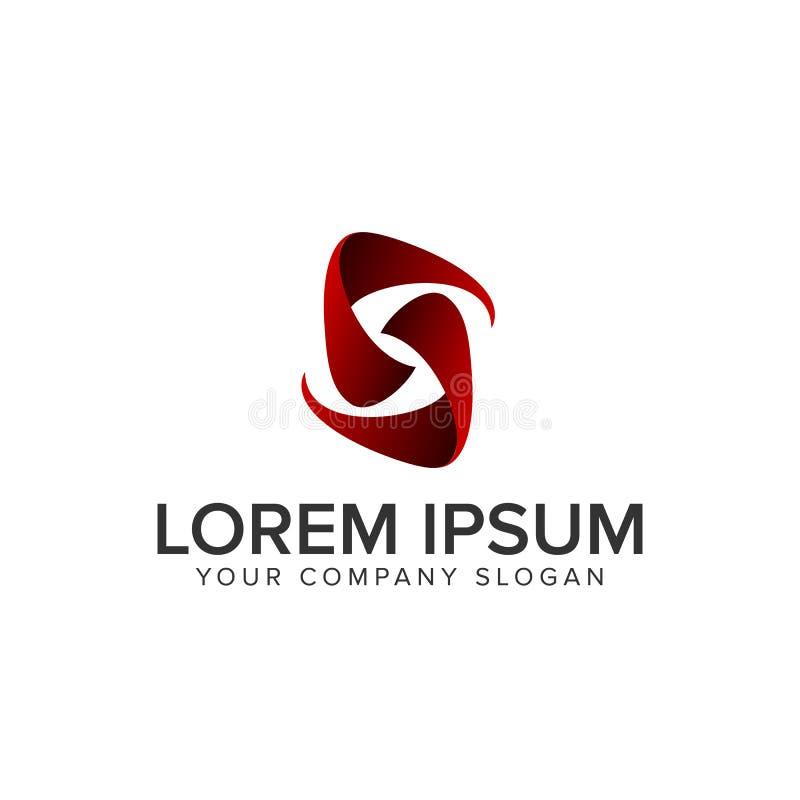 Letter S modern logo royalty free illustration