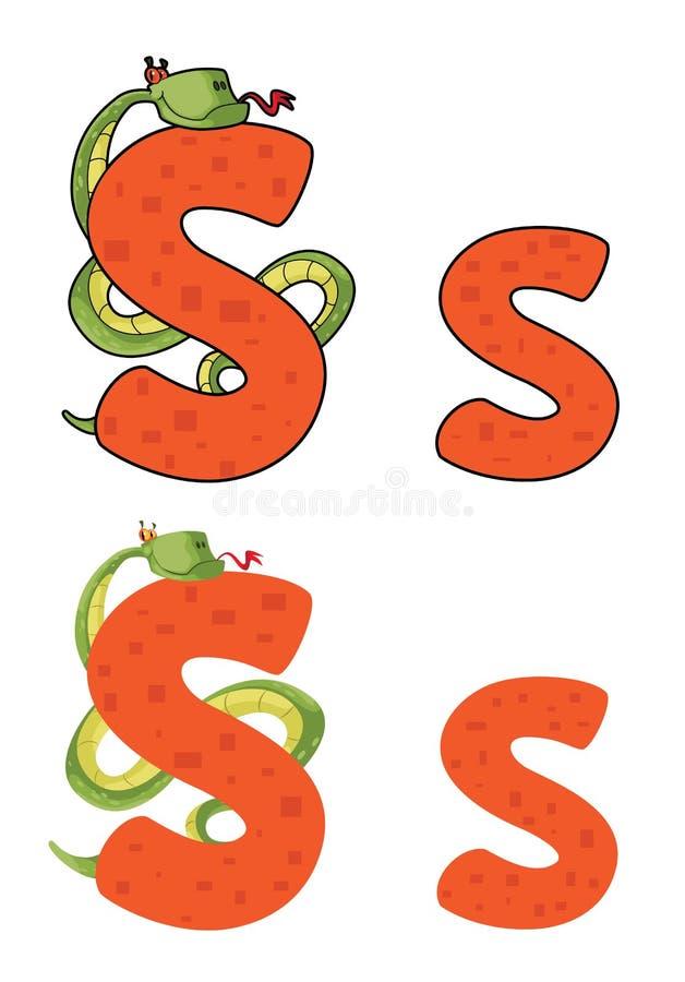 Download Letter S snake stock vector. Image of wildlife, anaconda - 26373250