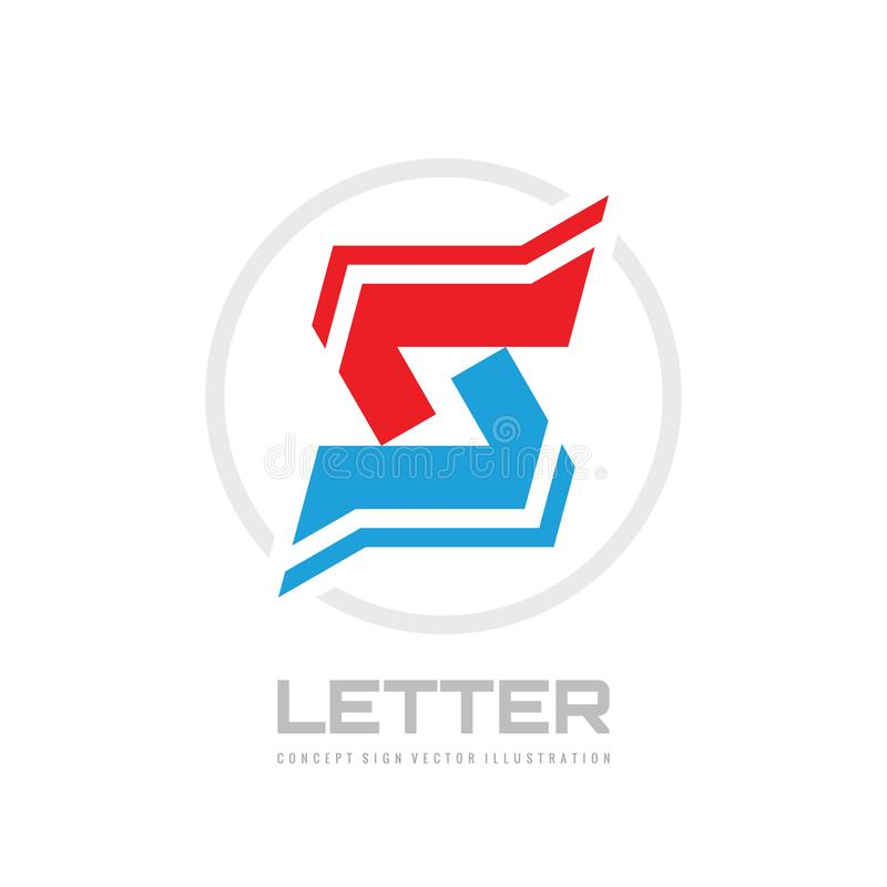 Letter S - vector business logo template design for corporate identity. Abstract geometric creative sign. stock illustration