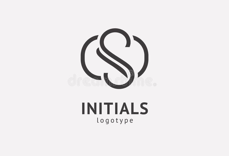 Letter S vector logo. Vintage Insignia and Logotype. Business sign, identity, label, badge initials. Monogram design elements, stock images