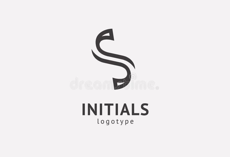 Letter S vector logo. Vintage Insignia and Logotype. Business sign, identity, label, badge initials. Monogram design elements, royalty free stock photography