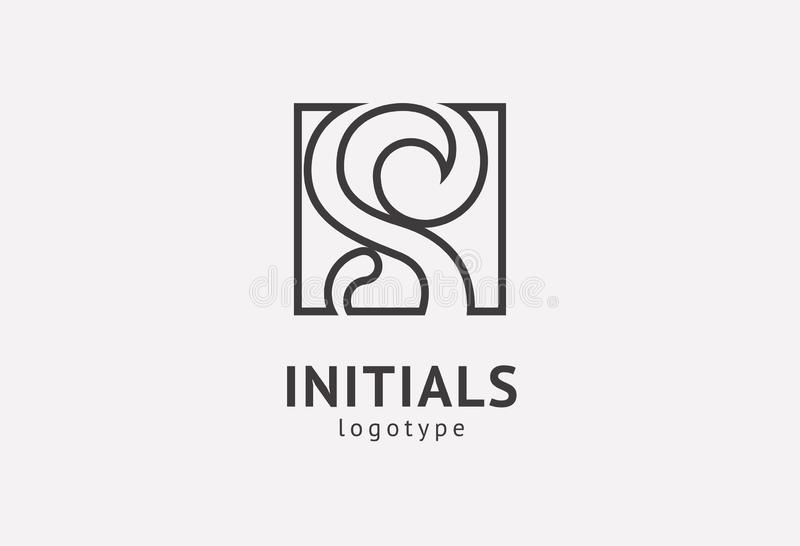 Letter S vector logo. Vintage Insignia and Logotype. Business sign, identity, label, badge initials. Monogram design elements, royalty free stock images