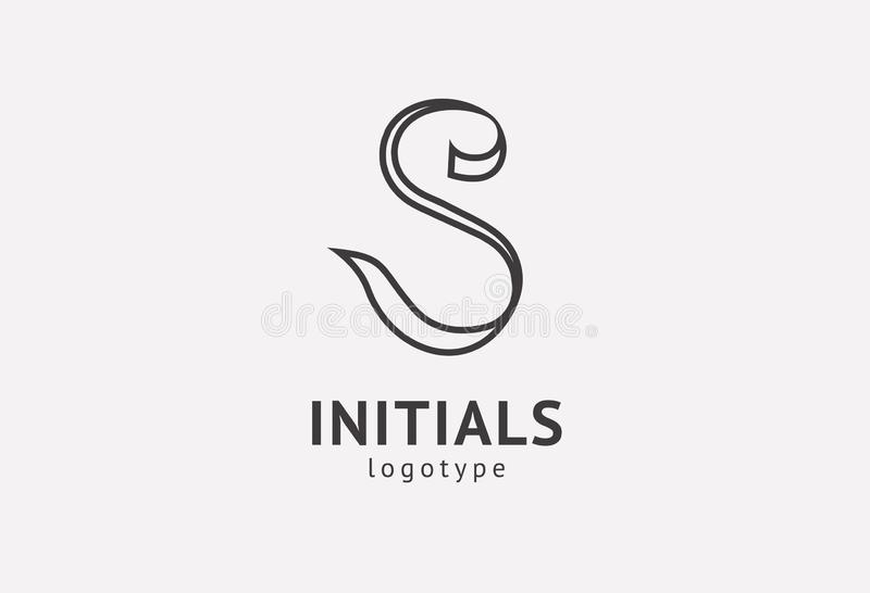 Letter S vector logo. Vintage Insignia and Logotype. Business sign, identity, label, badge initials. Monogram design elements, royalty free stock photo