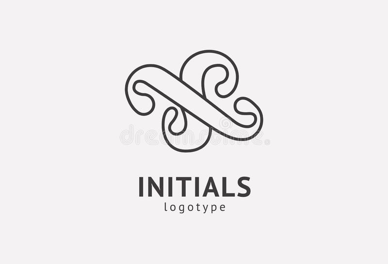 Letter S vector logo. Vintage Insignia and Logotype. Business sign, identity, label, badge initials. Monogram design elements, stock image