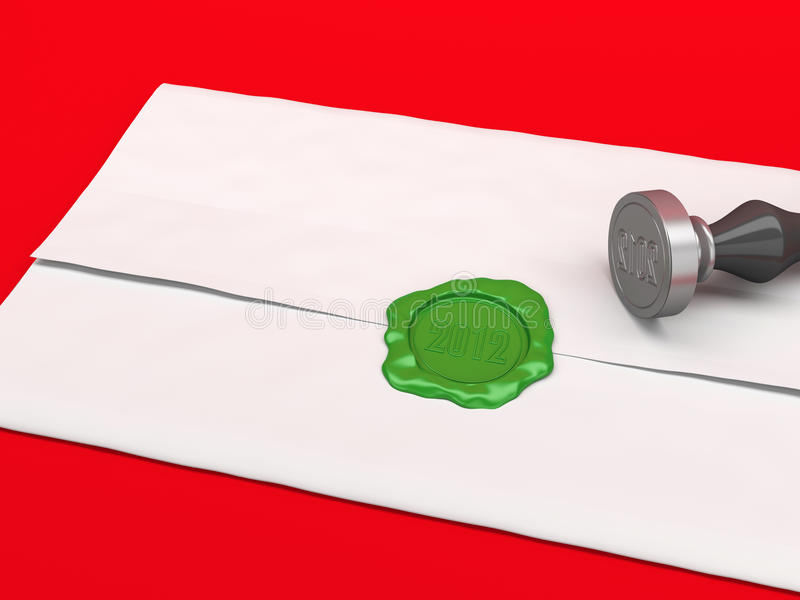 The Letter Sealed By A Sealing Wax Stamp. Stock Images