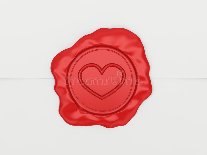 The Letter Sealed By A Stamp With Heart. Stock Images