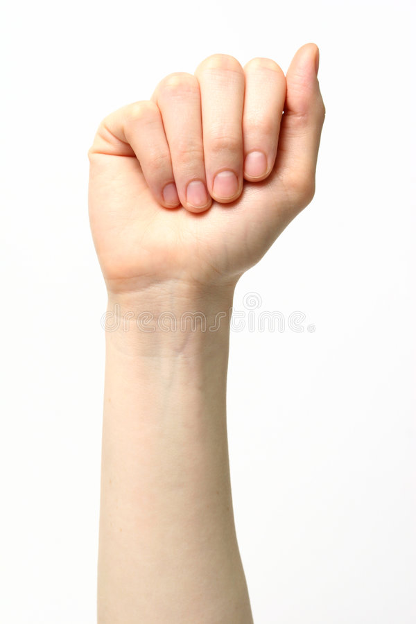 Letter A - Sign Language royalty free stock photos